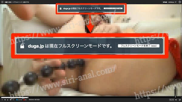 【DUGA】動画再生フルスクリーン