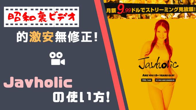 無修正動画サイト【Javholic】の使い方