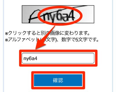Vプリカギフト確認画像認証