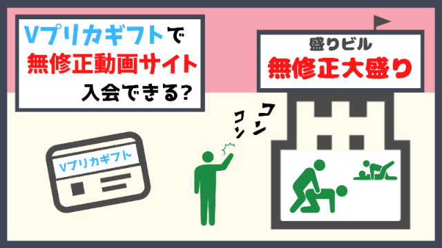無修正動画&Vプリカギフト